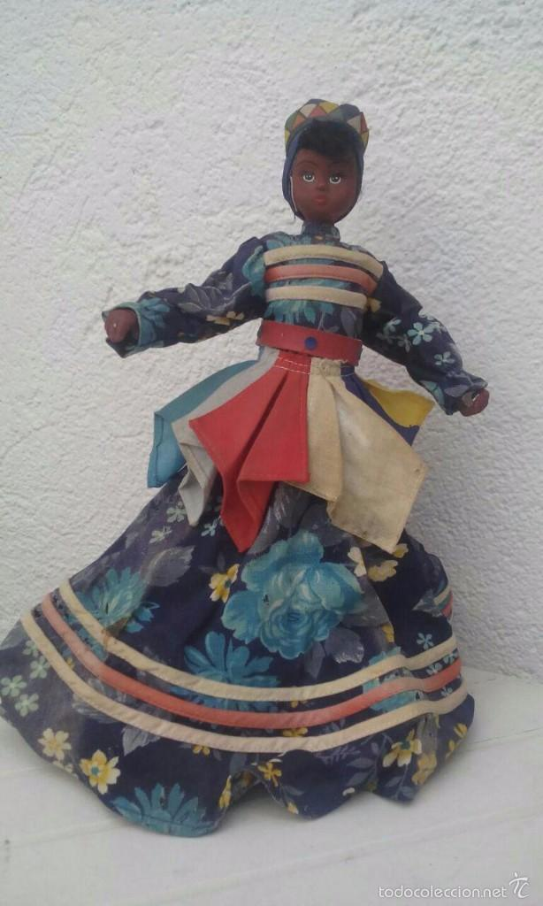 Muñecas Modernas: MUÑECA DE HOGUIN - CUBA / DE CERÁMICA. MIDE 30 CMS. DE ALTO - Foto 2 - 55905384