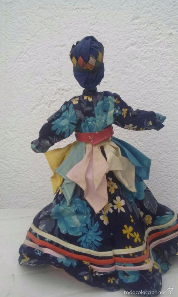 Muñecas Modernas: MUÑECA DE HOGUIN - CUBA / DE CERÁMICA. MIDE 30 CMS. DE ALTO - Foto 3 - 55905384