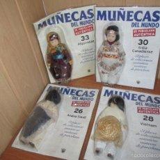 Muñecas Modernas: RBA: LOTE 4 MUÑECAS DE PORCELANA AUTENTICA MUÑECAS DEL MUNDO (PRECINTADAS). Lote 56281727