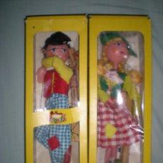Muñecas Modernas: PAREJA DE HOLANDESES MARIONETAS O TITERES MARCA PELHAM PUPPETS AÑO 1960 NUEVA SIN USO ENGLAND . Lote 58275940
