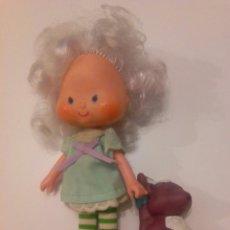 Moderne Puppen - TARTA DE FRESA DE LOS 80: CABELLO DE ANGEL CON SU MASCOTA - 58420277