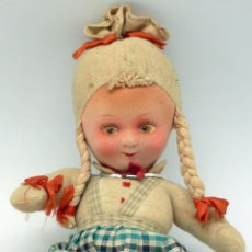 Muñecas Modernas: MUÑECA TRAPO OJOS PINTADOS RAYNAL AÑOS 40 - 50 25 CM ALTO. Lote 58623268