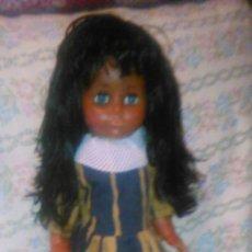 Muñecas Modernas: PRECIOSA MUÑECA NEGRITA MARCA TORTUGA W.GERMANY. CELULOIDE Y GOMA.PELO NEGRO AZABACHE. Lote 59937567