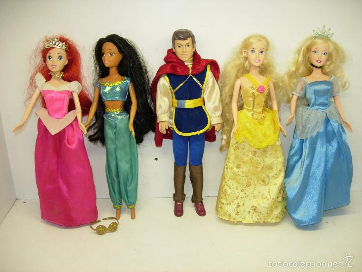 MUÑECAS PRINCESAS DISNEY DE SIMBA,ARIEL,JASMINE,CENICIENTA,BELLA + PRÍNCIPE FLORIAN DE BLANCANIEVES (Juguetes - Muñeca Extranjera Moderna - Otras Muñecas)