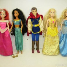 Muñecas Modernas: MUÑECAS PRINCESAS DISNEY DE SIMBA,ARIEL,JASMINE,CENICIENTA,BELLA + PRÍNCIPE FLORIAN DE BLANCANIEVES. Lote 59984723