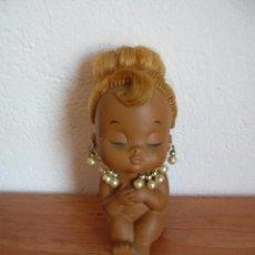 Muñecas Modernas: ANTIGUA MUÑECA DE GOMA NEGRITA NEGRA MULATA MARCA IWAI MADE IN JAPAN AÑOS 50 60 ?. Lote 60574995
