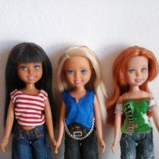 Muñecas Modernas: LOTE 3 MUÑECAS MATTEL WEE FRIENDS MIRANDA STACY JANET NEGRITA PELIRROJA RUBIA 2004. Lote 63136384
