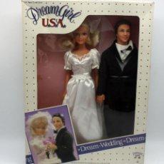 Muñecas Modernas: PAREJA DE MUÑECOS DREAM GIRL USA - EN CAJA, NUNCA JUGADOS - 1986 - BBI INTERNATIONAL. Lote 63650183