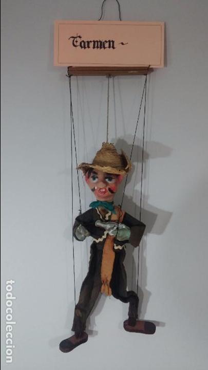 ANTIGUO MUÑECO MARIONETA, UN GRACIOSO MEXICANO CON DOS PISTOLAS, QUIZÁS PANCHO VILLA (Juguetes - Muñeca Extranjera Moderna - Otras Muñecas)