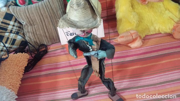 Muñecas Modernas: Antiguo muñeco marioneta, un gracioso mexicano con dos pistolas, quizás Pancho Villa - Foto 2 - 69718121