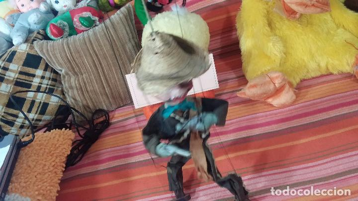 Muñecas Modernas: Antiguo muñeco marioneta, un gracioso mexicano con dos pistolas, quizás Pancho Villa - Foto 3 - 69718121