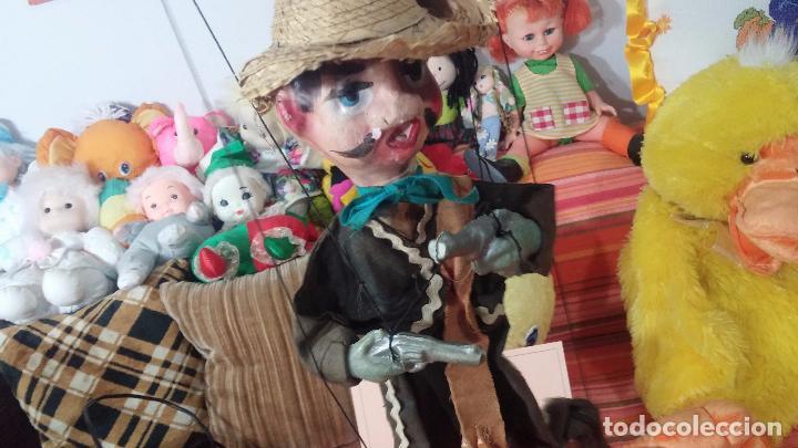 Muñecas Modernas: Antiguo muñeco marioneta, un gracioso mexicano con dos pistolas, quizás Pancho Villa - Foto 6 - 69718121