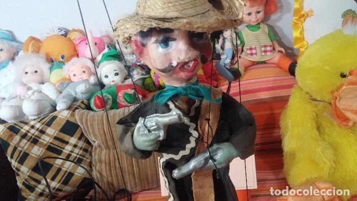Muñecas Modernas: Antiguo muñeco marioneta, un gracioso mexicano con dos pistolas, quizás Pancho Villa - Foto 13 - 69718121