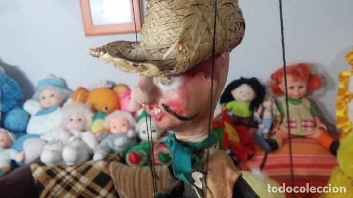 Muñecas Modernas: Antiguo muñeco marioneta, un gracioso mexicano con dos pistolas, quizás Pancho Villa - Foto 15 - 69718121