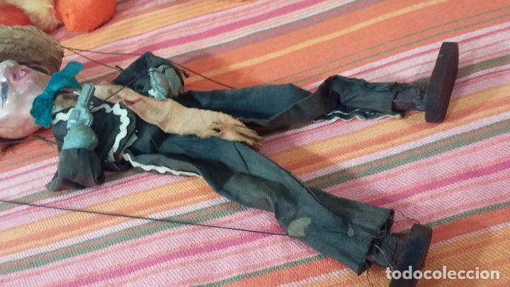 Muñecas Modernas: Antiguo muñeco marioneta, un gracioso mexicano con dos pistolas, quizás Pancho Villa - Foto 19 - 69718121