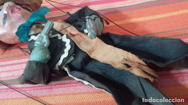 Muñecas Modernas: Antiguo muñeco marioneta, un gracioso mexicano con dos pistolas, quizás Pancho Villa - Foto 20 - 69718121
