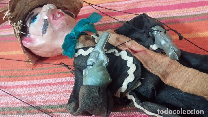 Muñecas Modernas: Antiguo muñeco marioneta, un gracioso mexicano con dos pistolas, quizás Pancho Villa - Foto 21 - 69718121