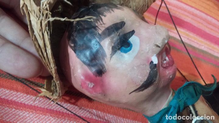 Muñecas Modernas: Antiguo muñeco marioneta, un gracioso mexicano con dos pistolas, quizás Pancho Villa - Foto 27 - 69718121