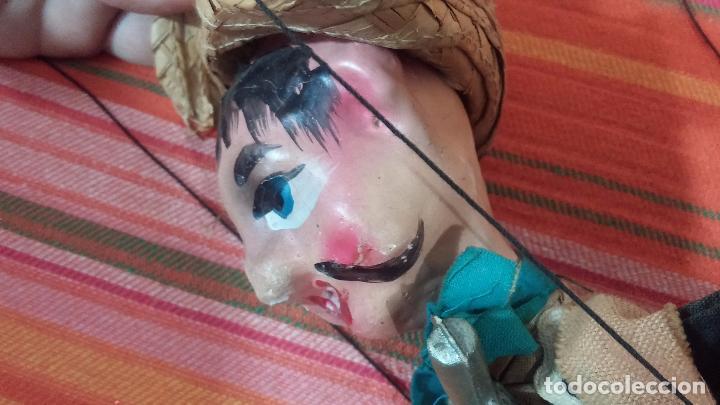 Muñecas Modernas: Antiguo muñeco marioneta, un gracioso mexicano con dos pistolas, quizás Pancho Villa - Foto 29 - 69718121