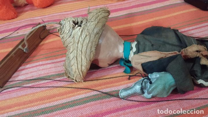 Muñecas Modernas: Antiguo muñeco marioneta, un gracioso mexicano con dos pistolas, quizás Pancho Villa - Foto 34 - 69718121
