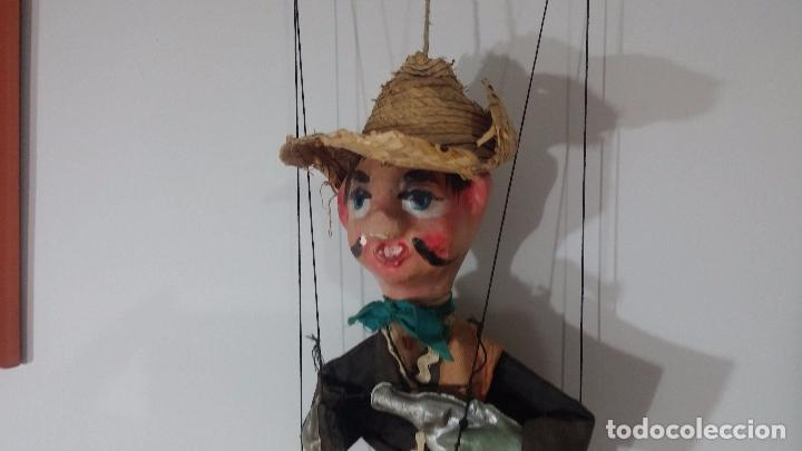 Muñecas Modernas: Antiguo muñeco marioneta, un gracioso mexicano con dos pistolas, quizás Pancho Villa - Foto 37 - 69718121