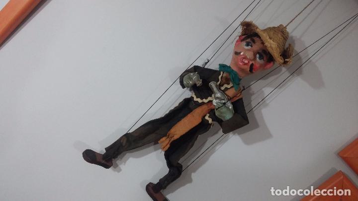 Muñecas Modernas: Antiguo muñeco marioneta, un gracioso mexicano con dos pistolas, quizás Pancho Villa - Foto 39 - 69718121