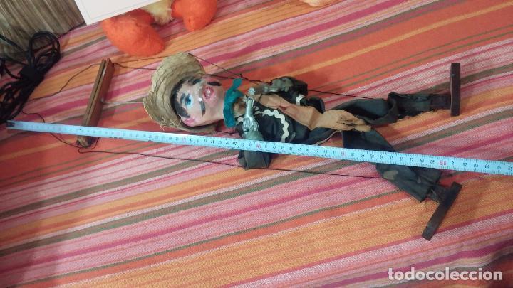 Muñecas Modernas: Antiguo muñeco marioneta, un gracioso mexicano con dos pistolas, quizás Pancho Villa - Foto 42 - 69718121