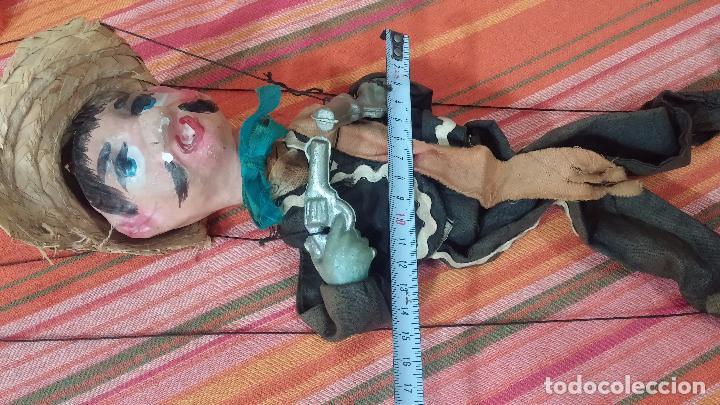 Muñecas Modernas: Antiguo muñeco marioneta, un gracioso mexicano con dos pistolas, quizás Pancho Villa - Foto 44 - 69718121
