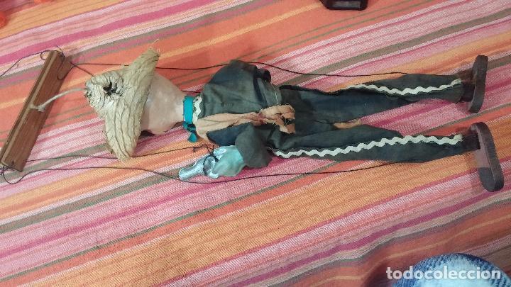 Muñecas Modernas: Antiguo muñeco marioneta, un gracioso mexicano con dos pistolas, quizás Pancho Villa - Foto 45 - 69718121
