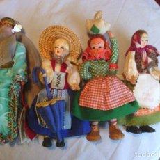 Muñecas Modernas: LOTE DE 4 MUÑECAS TIPICAS - AÑOS '60. Lote 69749013
