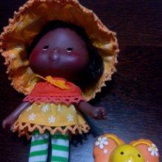 Muñecas Modernas: TARTA DE FRESA DE LOS 80: TARTA DE NARANJA CON SU MARIPOSA. Lote 69891745