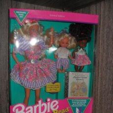 Muñecas Modernas: MUÑECA BARBIE LOVE-TO-READ CON BEBES Y ACCESORIOS 1992. MATTEL. NRFB. Lote 73806999