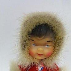 Muñecas Modernas: MAGNIFICO Y ANTIGUO MUÑECO ESQUIMAL - AUTENTICO - DE LOS AÑOS 60 -. Lote 74296991