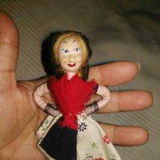 Muñecas Modernas: PRECIOSA MUÑECA TRAPO Y ALAMBRE PELO MOHAIR.REGIONAL. Lote 80159710