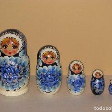 Moderne Puppen - MATRIOSKA, MATRIOSHKA, 5 PIEZAS. PINTADAS A MANO. ORIGINALES DE RUSIA. - 82360212