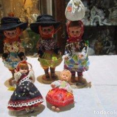 Muñecas Modernas: 5 MUÑECAS CON TRAJES REGIONALES - 3 DE PORTUGAL - CELULOIDE.. Lote 83802060