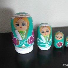 Muñecas Modernas: MATRIOSHKA CONJUNTO DE MUÑECAS RUSAS EN MADERA AÑOS 70. Lote 84605848