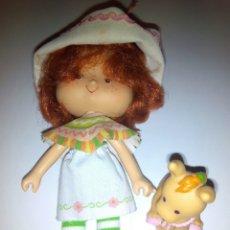 Muñecas Modernas: TARTA DE FRESA DE LOS 80: CAFÉ OLÉ CON SU MASCOTA BURRITO. Lote 85253196