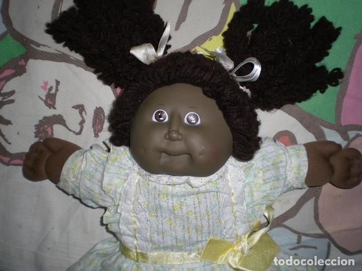 Muñecas Modernas: bonita muñeca cabbage patch kid negra mulata años 78/82 sellada completa de origen muy buen estado - Foto 2 - 85943832