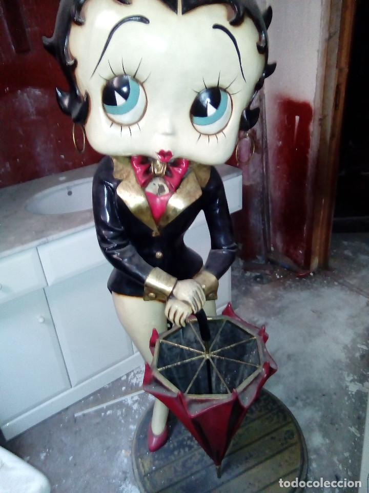Muñecas Modernas: Figura de bakelita de Betty Boop, tamaño natural 1,25 metros, figura utilizada como paraguero - Foto 5 - 86168212