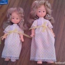 Muñecas Modernas: MUÑECAS INGLESAS DE LOS AÑOS 60. SIN MARCA. OJOS PINTADOS. BUEN ESTADO. . Lote 90976040