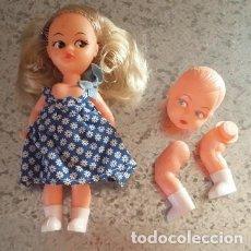 Muñecas Modernas: MUÑECA MICROBIO Y MUÑECO MIC DE GOMYBER AÑOS 70-80. Lote 93102840