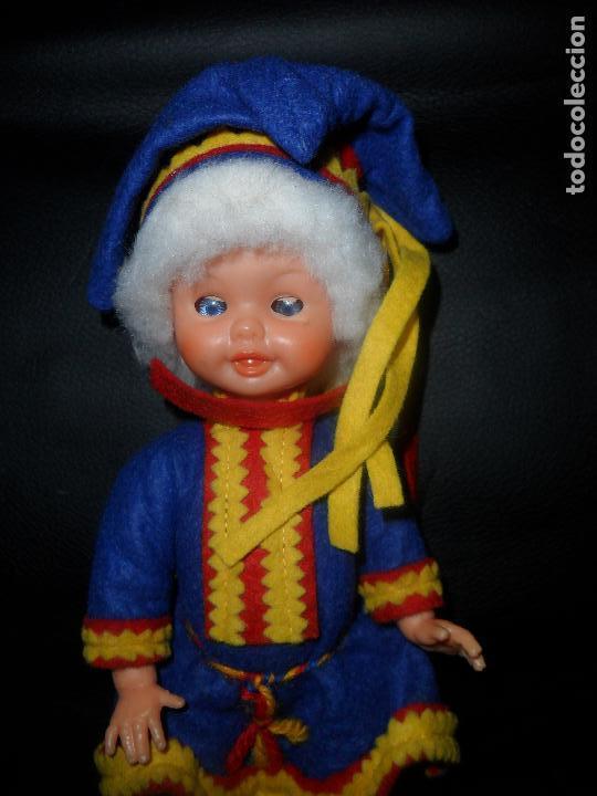 Muñecas Modernas: MUÑECO SUECO, TRAJE REGIONAL SUECIA- CELULOIDE 20CM. AÑOS 60'S - - Foto 2 - 94654795