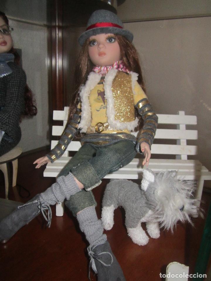 Muñecas Modernas: MUÑECA ELLOWYNE DE TONNER + BANCO + 2 PERRITOS+ HOJAS OTOÑALES PARA EL SUELO - Foto 3 - 83188616