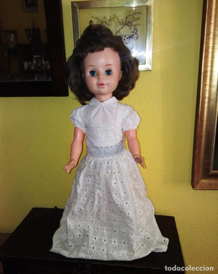 Muñecas Modernas: Antigua muñeca inglesa a cuerda. 55 cmtrs. - Foto 6 - 100215087