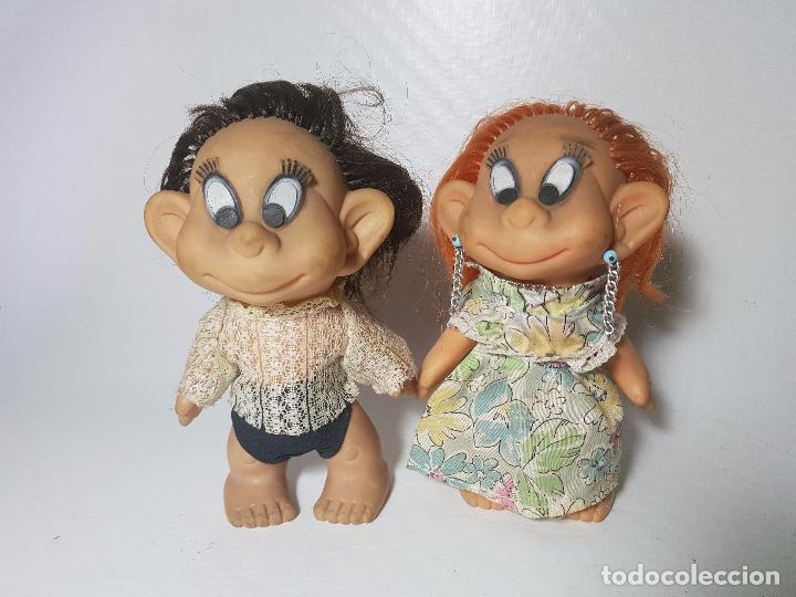 LOTE DE DOS MUÑECAS DE GOMA FRANCESAS LAFLEX AÑOS 60-70 (Juguetes - Muñeca Extranjera Moderna - Otras Muñecas)