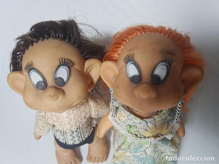 Muñecas Modernas: lote de dos muñecas de goma francesas laflex años 60-70 - Foto 3 - 100764235