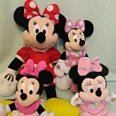 Muñecas Modernas: LOTE DE 4 MUÑECAS MINNIE DE DISNEY,LA MAS GRANDE MIDE 75 CM.. Lote 102080731