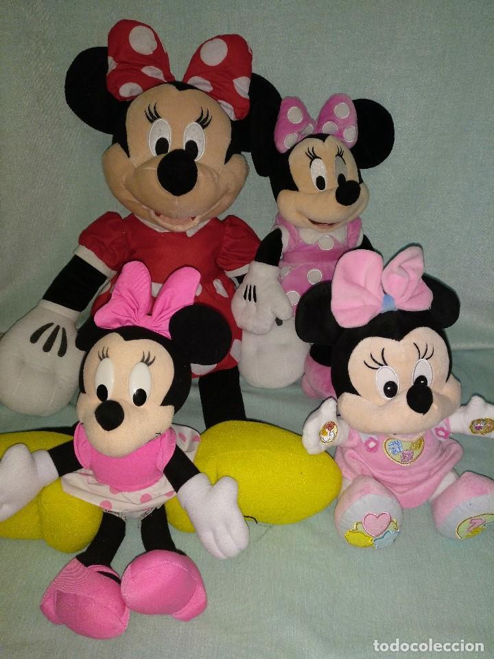 Muñecas Modernas: Lote de 4 muñecas Minnie de Disney,la mas grande mide 75 cm. - Foto 2 - 102080731