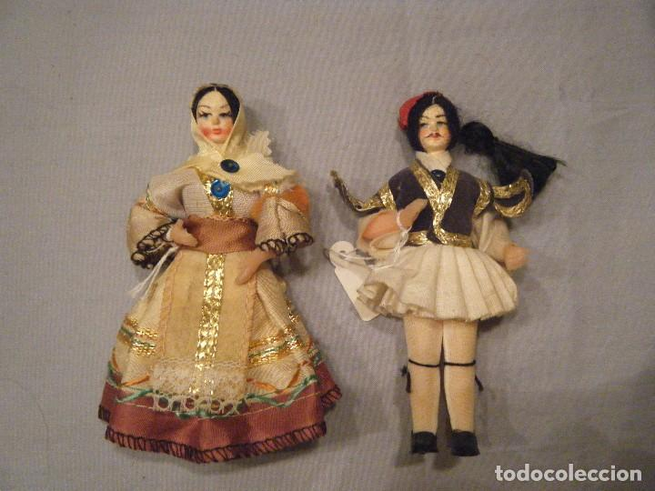 ANTIGUA PAREJA DE MUÑECOS GRIEGOS. (Juguetes - Muñeca Extranjera Moderna - Otras Muñecas)